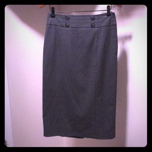 High waisted pencil skirt from H&M gray